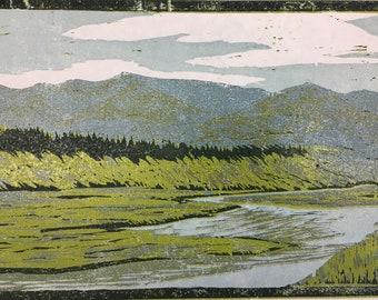 Yellowstone Woodblock Print (LIMITED EDITION)