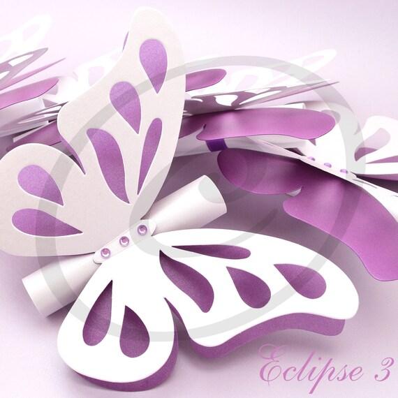 Butterfly wedding invitations scroll wedding invitation like this item filmwisefo Images