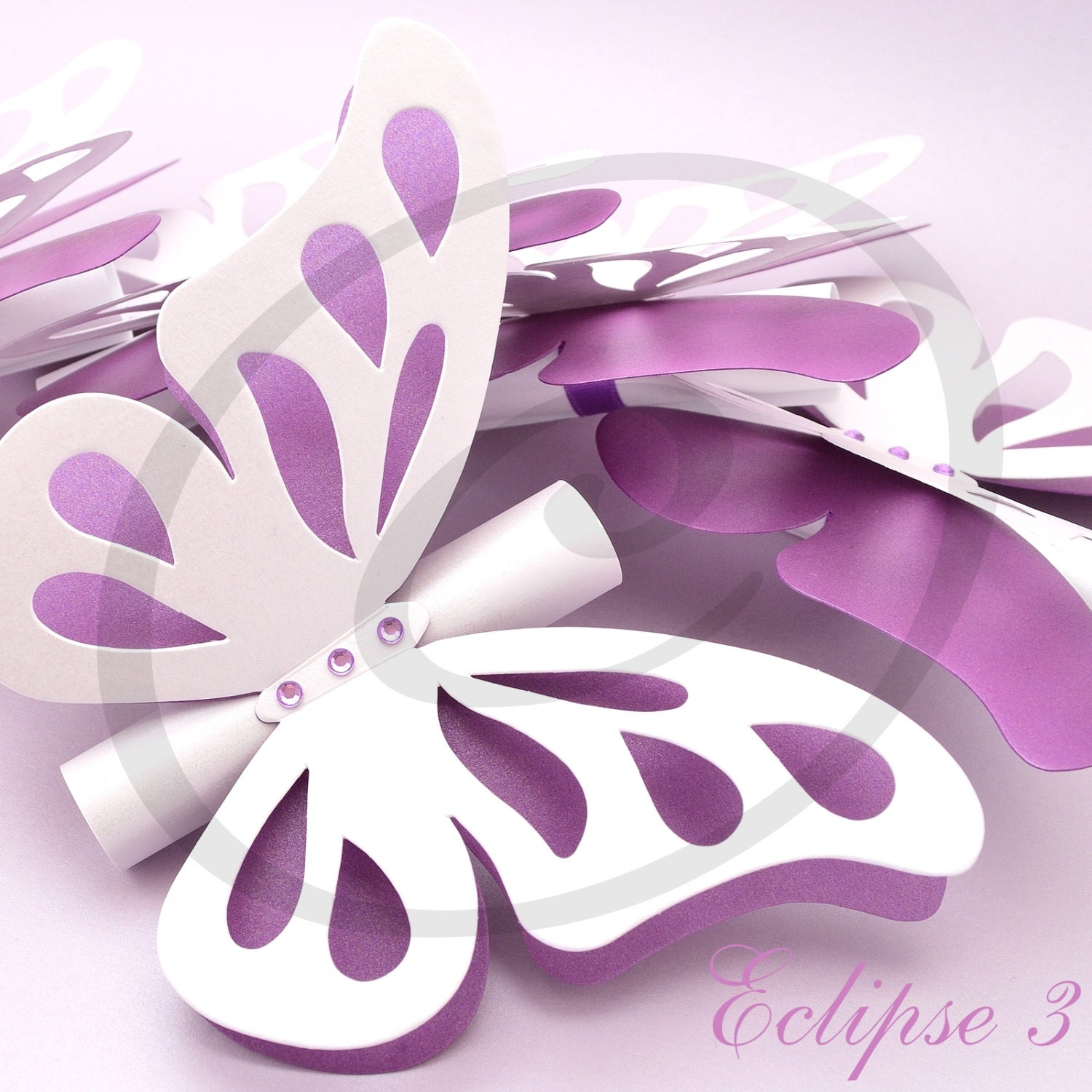 Butterfly wedding invitations scroll wedding invitation