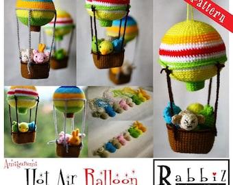 PDF Pattern - Amigurumi Hot Air Balloon with Animals