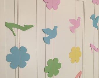Spring Garland - Spring Birthday Garland - Garland Decoration - Ladies Springtime Streamers - Spring Party Decoration - Party Decorations