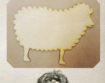 Sheep / Lamb - Wood Cut Out - Laser Cut