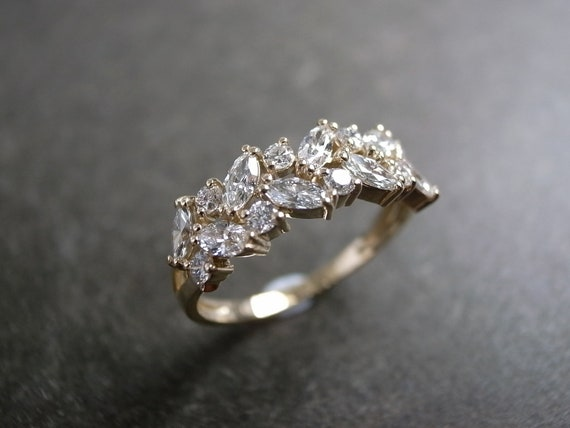 Marquise Wedding Ring Engagement Ring Diamond Ring