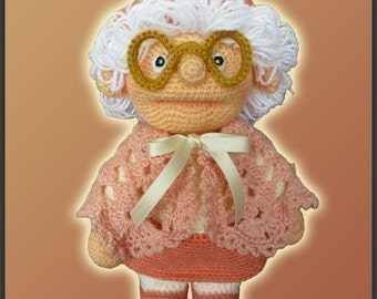 Amigurumi Pattern Crochet Granny Doll DIY Instant Digital Download PDF