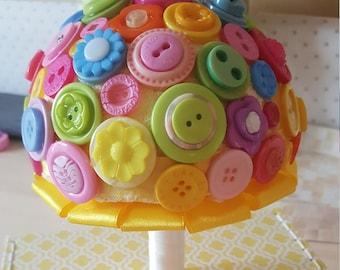 Button Bouquet/ Wedding Bouquet / Artificial Bouquet / Artificial Wedding Bouquet / Flowers for Weddings / Brides Bouquet/