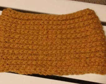Chunky Cowl / Neck Warmer /Crochet Scarf / Mustard / Yellow