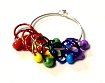 The FULL MONTY RAINBOW Snagless Stitch Markers