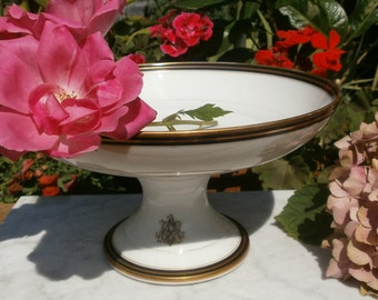 Old fruit bowl - french Vintage porcelain Compote Dish shabby chic