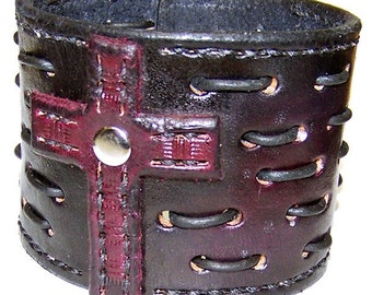 Item 101210 True Blood Leather Wrist Cuff Bracelet Wristband