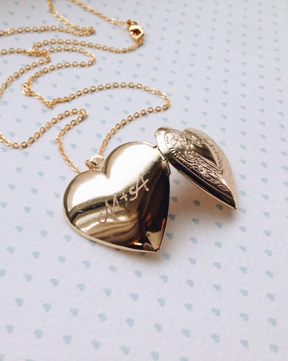 shop genuine engraving gift gold pearls rose heart locket engraved and dragonfly filled on vintage with deals leaf etsy flower yellow in necklace steampunknation jewelry lockets