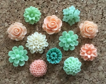 Flower Thumbtacks or Magnets Set of 12 - (#191) dorm decor, hostess gift, weddings, bridal shower, baby shower, gift, teacher gift