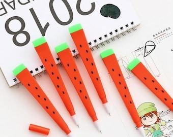 Watermelon gel pen - 4 pcs