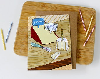 Birthday Cards Melbourne ~ Cheese card brie happy card cheese birthday card foodie