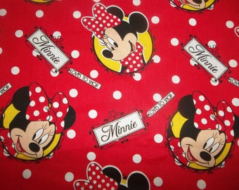 Minnie Loves To Shop 100% Cotton Fabric #147