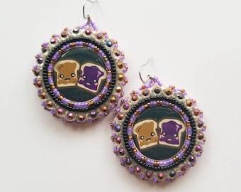 Peanut Butter & Jelly Earrings