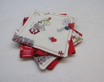 Mickey Mouse and Minnie Mouse Sweetheart Coasters (Set of Four)