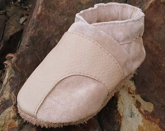 Soft Sole Leather Baby Shoes Moccs 12 to 18 Month Reclaimed