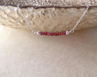Garnet Necklace/ gemstone necklace/ birthstone necklace/ January birthstone necklace/ January birthstone
