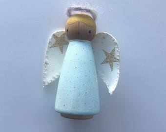 Large Angel Peg Doll