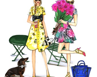 Spring Fashion Art, Fashion Illustration, Chic Fashion Poster
