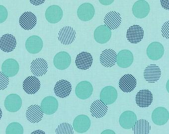 Moda - Colour Theory Dots Teal Blue (Half metre)