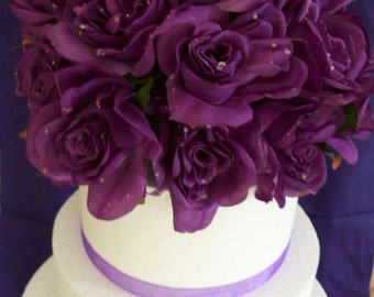 Purple Floral Cake Topper