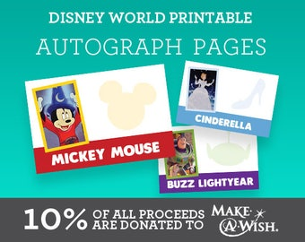 Disney World Printable Autograph Pages