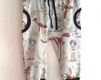 Kids pants, organic cotton T-12 months