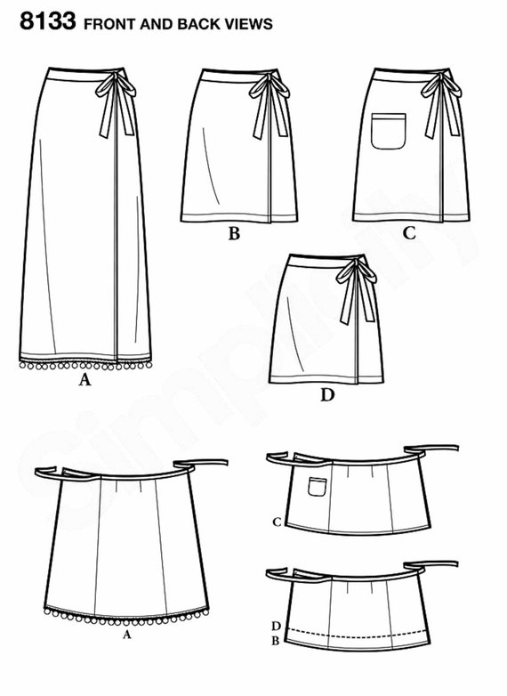 Learn to Sew Wrap Skirt Pattern Beginner Sewing Wrap Skirt