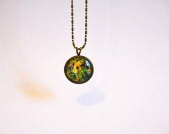 """Necklace - Planet - cabochon - """"Antichthon #3"""""""