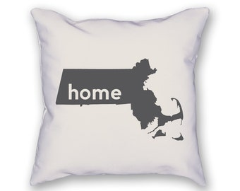 Massachusetts Home Pillow