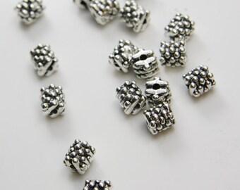 20pcs Oxidized Silver Tone Base Metal Spacer Beads 8x7mm (2626X-D-161A)