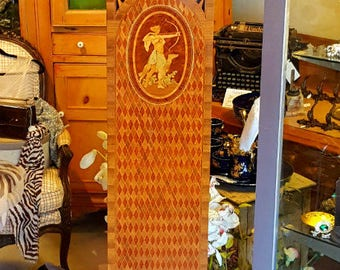 Antique Marquetry Grandmother Clock, Vintage Walnut Grandfather Clock, Vintage Longcase Clock, Marquetry Clock, Grandmother Clock
