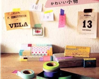 Cute Goods with Masking Tapes - Japanese Craft Book