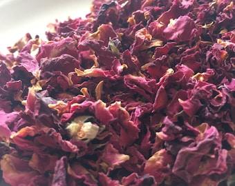 Organic Rose Petals, Loose Leaf Tea, Herbal Tea