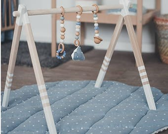 Wooden baby play gym - baby activity gym - stylish nursery baby wooden gym stand