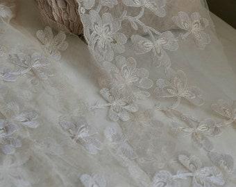 Antique Wedding Lace Oyster Vintage Needlepoint Lace Vintage Wedding 3.5m - Haute Couture Period Costume & Vintage Wedding