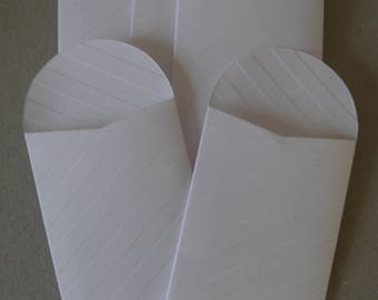 50 x mini white paper bags seed packets envelopes,gift favor confetti, party wedding 2.4 x 3.5in mini bags