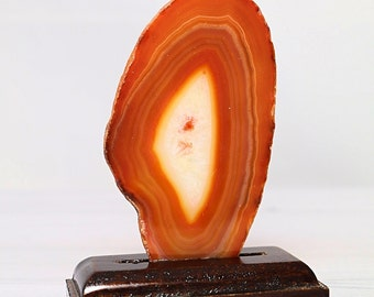 Dyed Agate Slice ( Orange ) - FREE GIFT with EVERY purchase