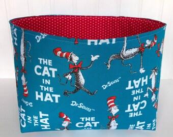 Cat in the Hat Basket Cat in the Hat Bin Cat in the Hat Storage Bin Cat in the Hat Storage Basket Dr. Seuss Nursery Decor Dr. Seuss Basket