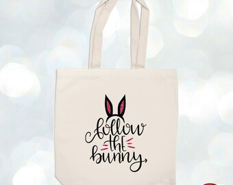 Bunny easter bag, custom easter bag, personalized easter bag, easter bag, burlap bag, bunny bag