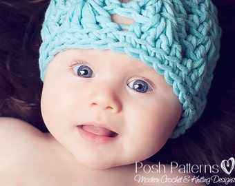 Crochet PATTERN - Crochet Hat Pattern - Crochet Pattern Baby - Crochet Patterns - Includes Baby, Toddler, Kids, Adult Sizes - PDF 190
