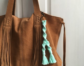 Macramé Key Chain Bag Charm
