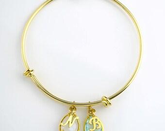 Mom bracelet birthstone Initial bangle, Personalized mothers bracelet, Birthstone bangle bracelet bangle grandma bracelet family bangle