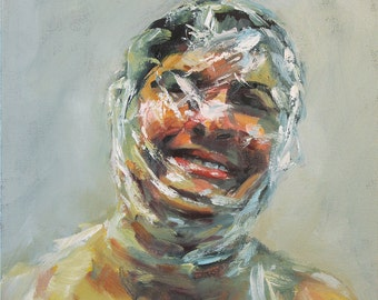Mythology Head V, Collaborative Oil Painting