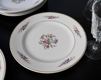 Set of 6 Antique French Dessert Plates