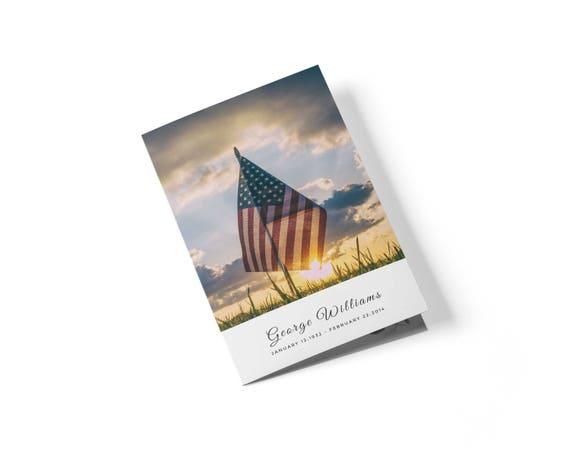 Militärische Beerdigung Programm Vorlage Obituary-Denkmal