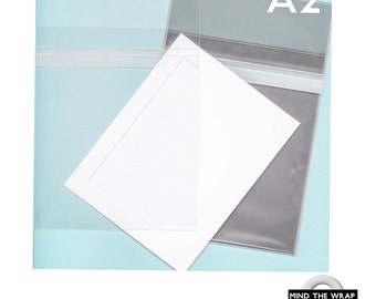100 - A2 size - Crystal Clear Bags - 4-5/8 x 5-3/4 inches - Protective Closure Cello sleeves