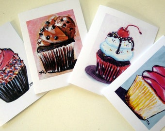 Card Set - Cupcake Cards Art Note Cards (Ed. 6) - Set of 12 Notecards