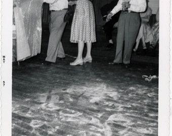 vintage photo 1960 Headless Man Looks Behind Curtain Sand Floor abstract